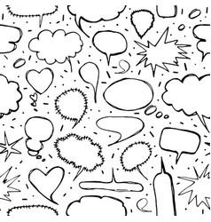 Contour speech bubble seamless pattern vector