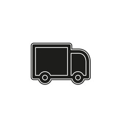 delivery truck icon isolated on white background vector image