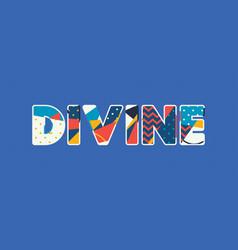 Divine concept word art vector