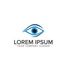 Eye logo medical design concept template vector
