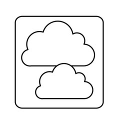 figure cound data network icon vector image