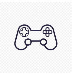 Game controller line icon gamepad thin linear vector