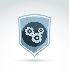 Gear emblem vector