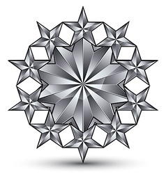 Geometric classic rounded silver element isolated vector
