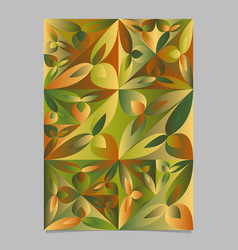 Geometrical abstract floral triangle flyer vector