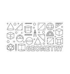 geometry concept line horizontal banner vector image
