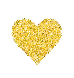 Glitter golden heart vector