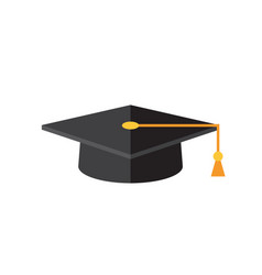 graduation cap - concept icon in flat graphic vector image
