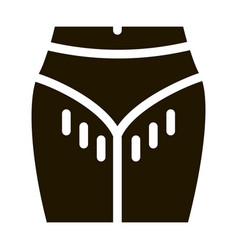 hairy bikini zone icon glyph vector image