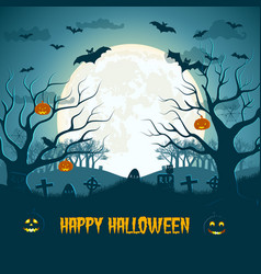 happy halloween composition vector image