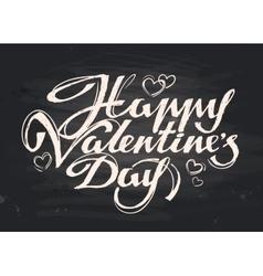 happy valentines day handwritten inscription vector image