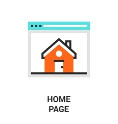 home page icon vector image