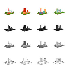 Institution firm building and other web icon vector