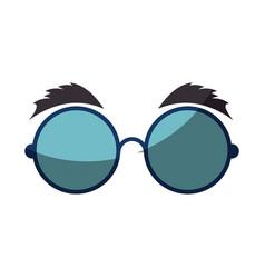 Joke glasses toy vector