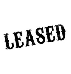 Leased rubber stamp vector