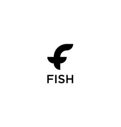 letter f logo design concept vector image