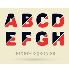 Letter logo font vector image