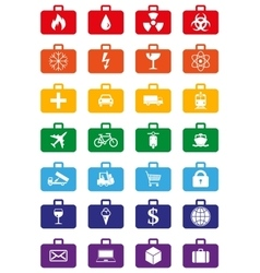 Logistics services colored icons set vector image