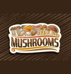 Logo for edible mushrooms vector