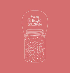 mason jar decoration for christmas season vector image