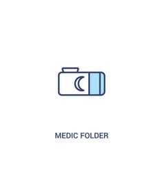 Medic folder concept 2 colored icon simple line vector