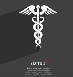 medicine symbol Flat modern web design with long vector image