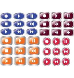 Multimedia buttons 4 vector