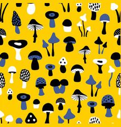 mushroom yellow pattern vector image vector image