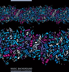 Music seamless abstract background with colorful vector image