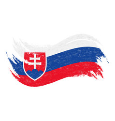 National flag of slovakia designed using brush vector