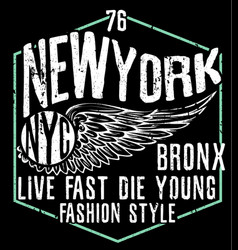 Newyork city typography graphic design vector