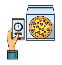 online food order and delivery vector image