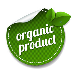 Organic product label isolated white background vector