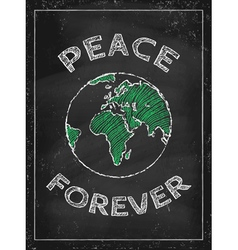Peace Day chalk vector