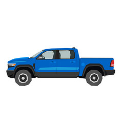 pickup drawing off-road car in cartoon style vector image