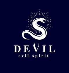 Poisonous snake evil spirit black graphic emblem vector