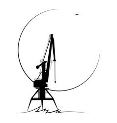 Port crane vector