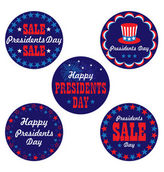 presidents day graphic icons vector image