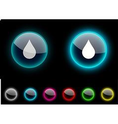 Rain button vector image