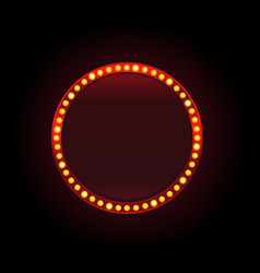 Red circle lights banner sign copyspace vector