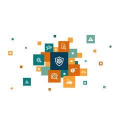 Risk management infographic 10 steps pixel design vector