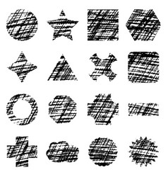 scribble geometric shapes on white background vector image