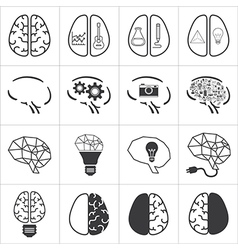 set of brain icon vector image