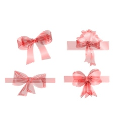 set of four red ribbons vector image