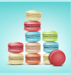 Set of macarons vector