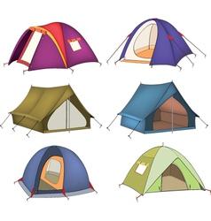 Set of tourist tents vector image