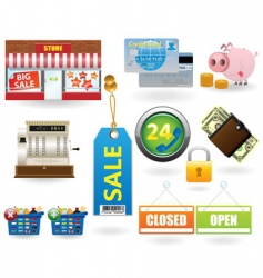 Shopping icon set2 vector