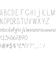 Simple sloppy handwriting vector