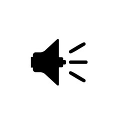 sound icon in flat style for apps ui websites vector image