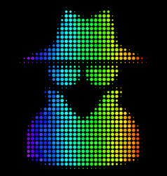 Spectrum dotted spy icon vector